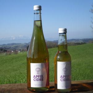 Apfelcidre brut in zwei Flaschengrößen