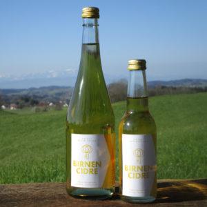 Birnen-Cidre in zwei Flaschengrößen