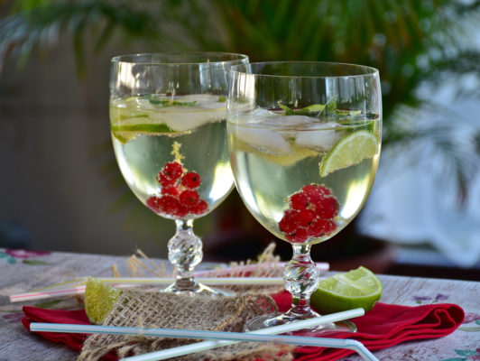 Birnencidre-Cocktail